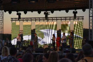 GK on stage